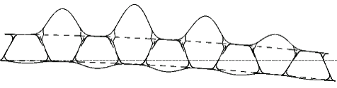 Image of section view of a truss